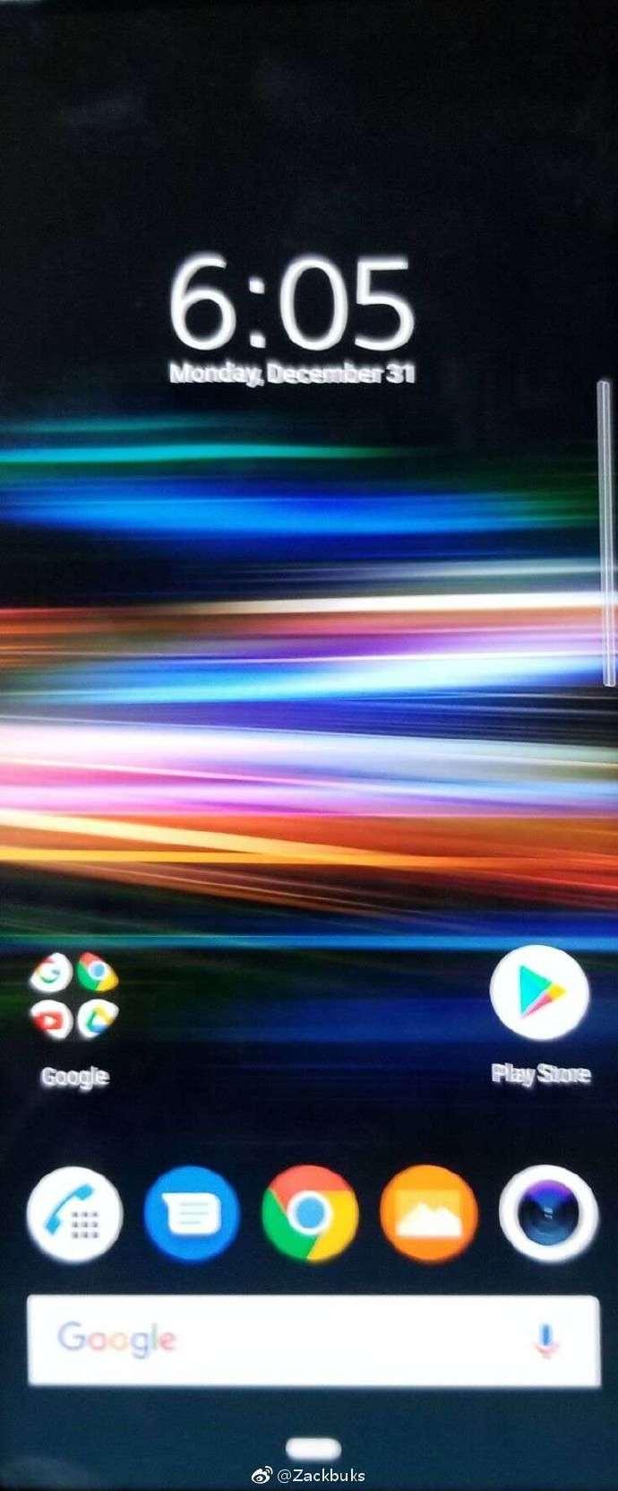 Xperua XZ4。ホーム画面