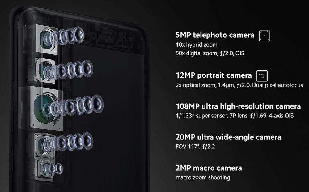 Mi Note 10。5眼カメラ