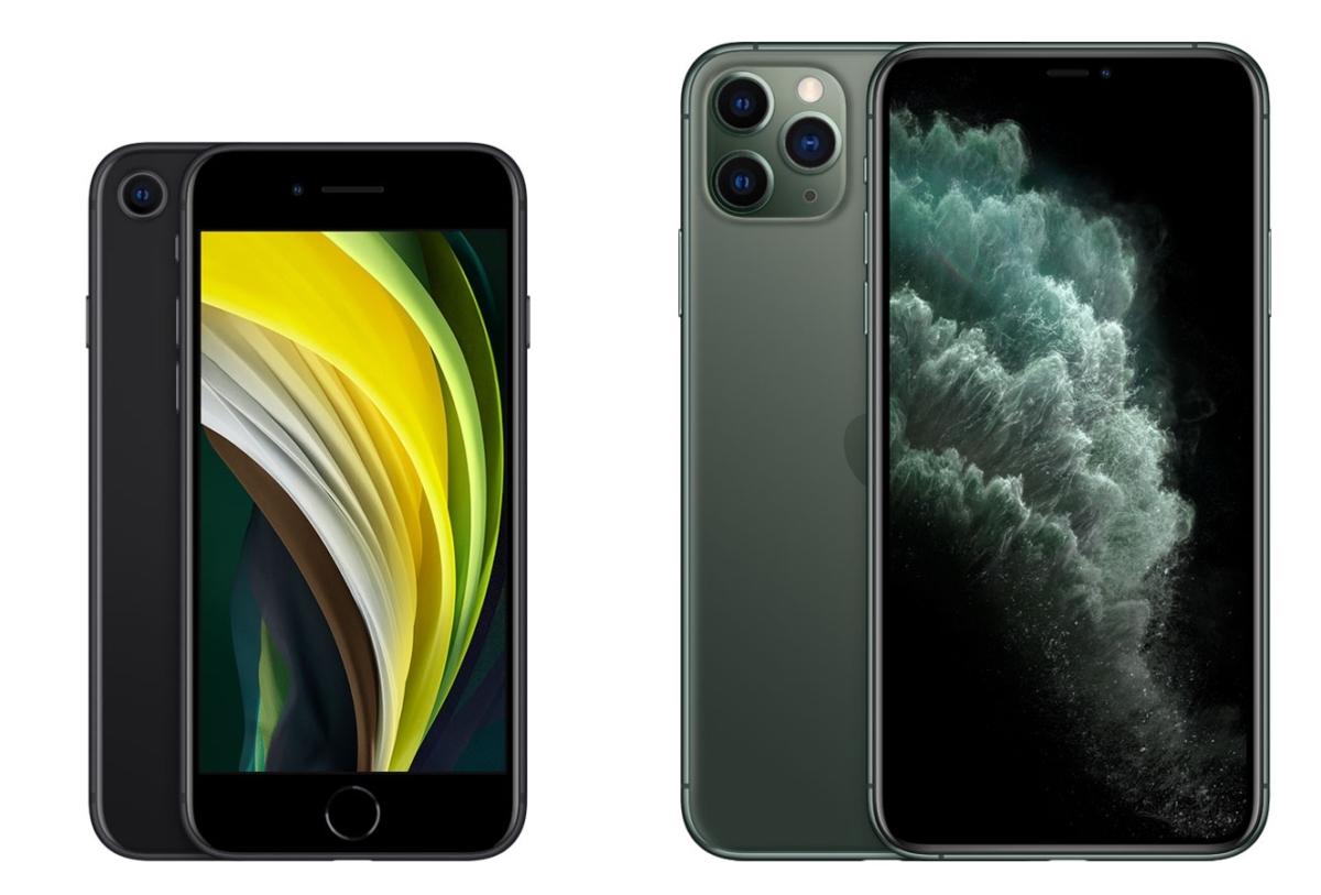 iPhone SE、iPhone 11 Pro Max