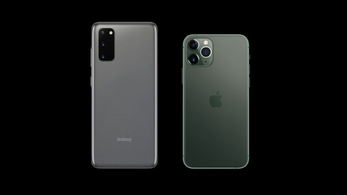 Galaxy S20とiPhone 11 Pro
