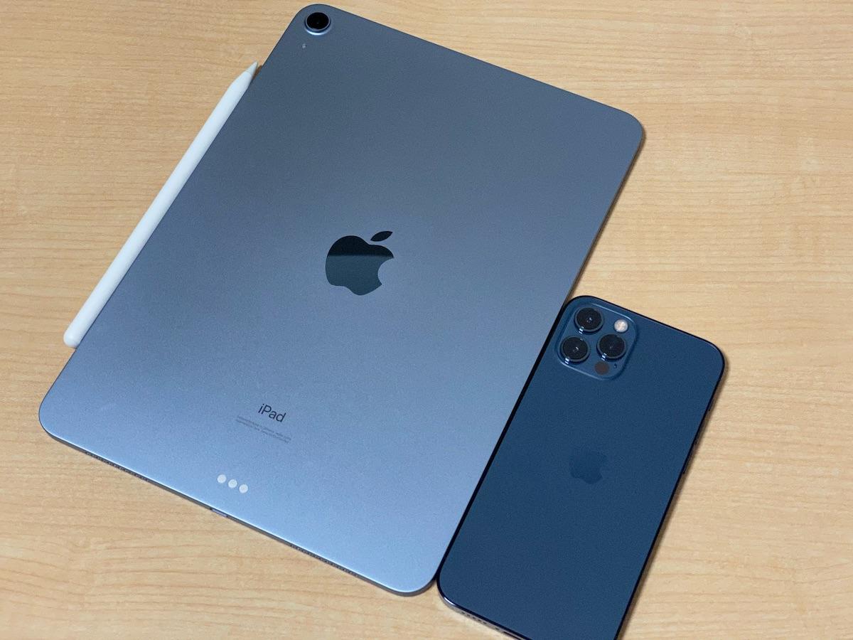 iPhone 12 Proのパシフィックブルーと