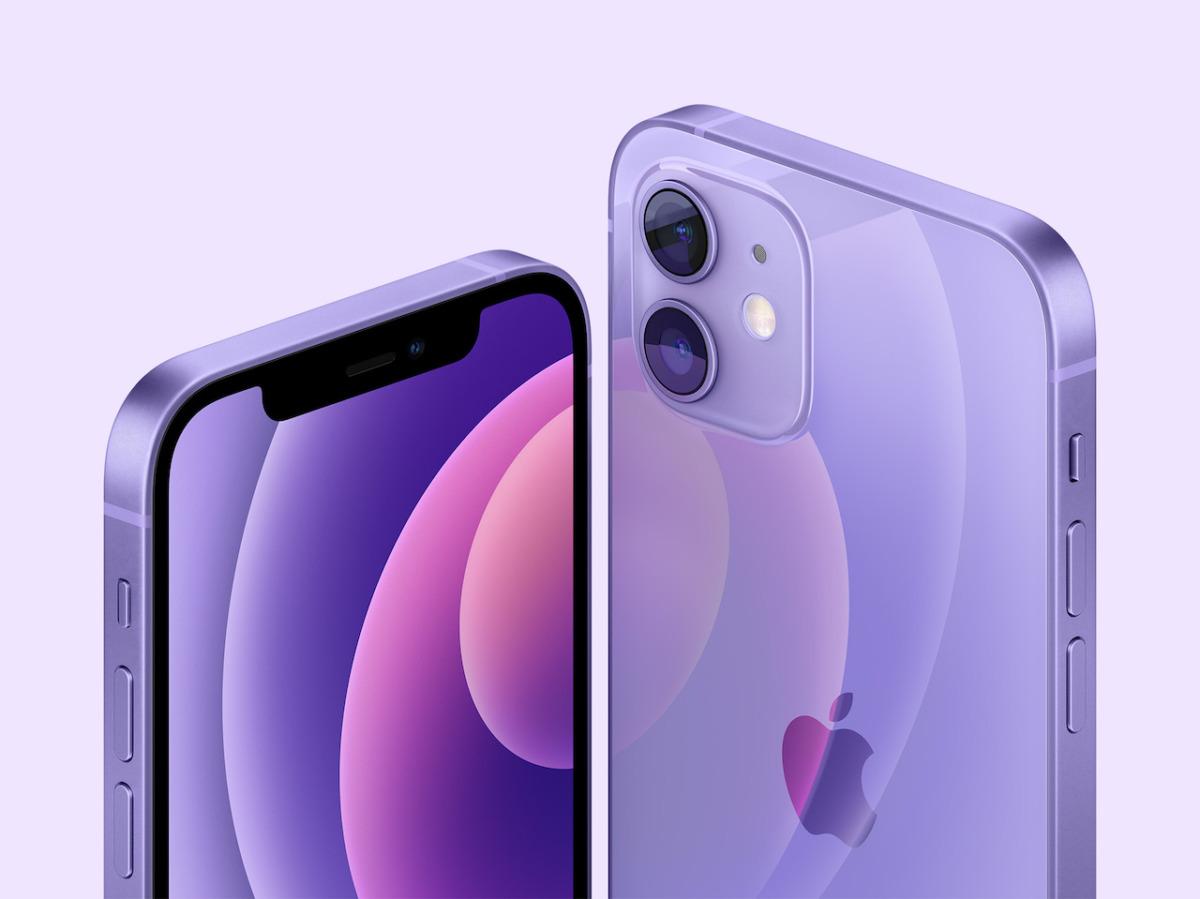 iPhone 12パープル