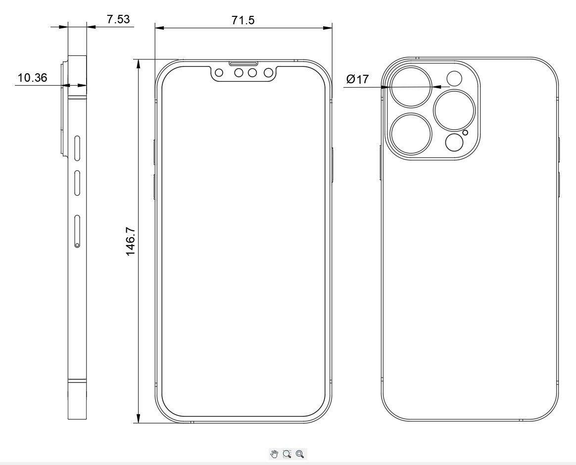 iPhone 13 Proの図面