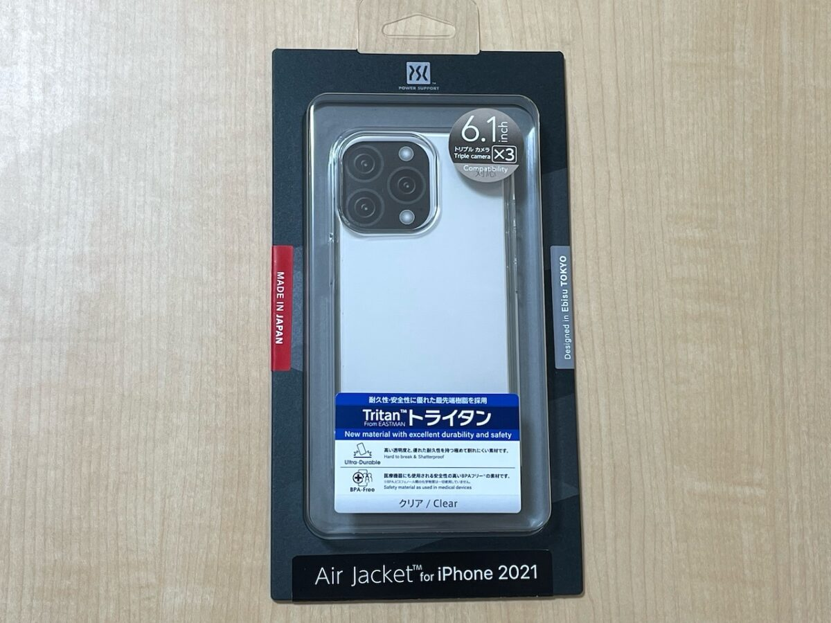 AirJacket for iPhone 13 Pro、クリア