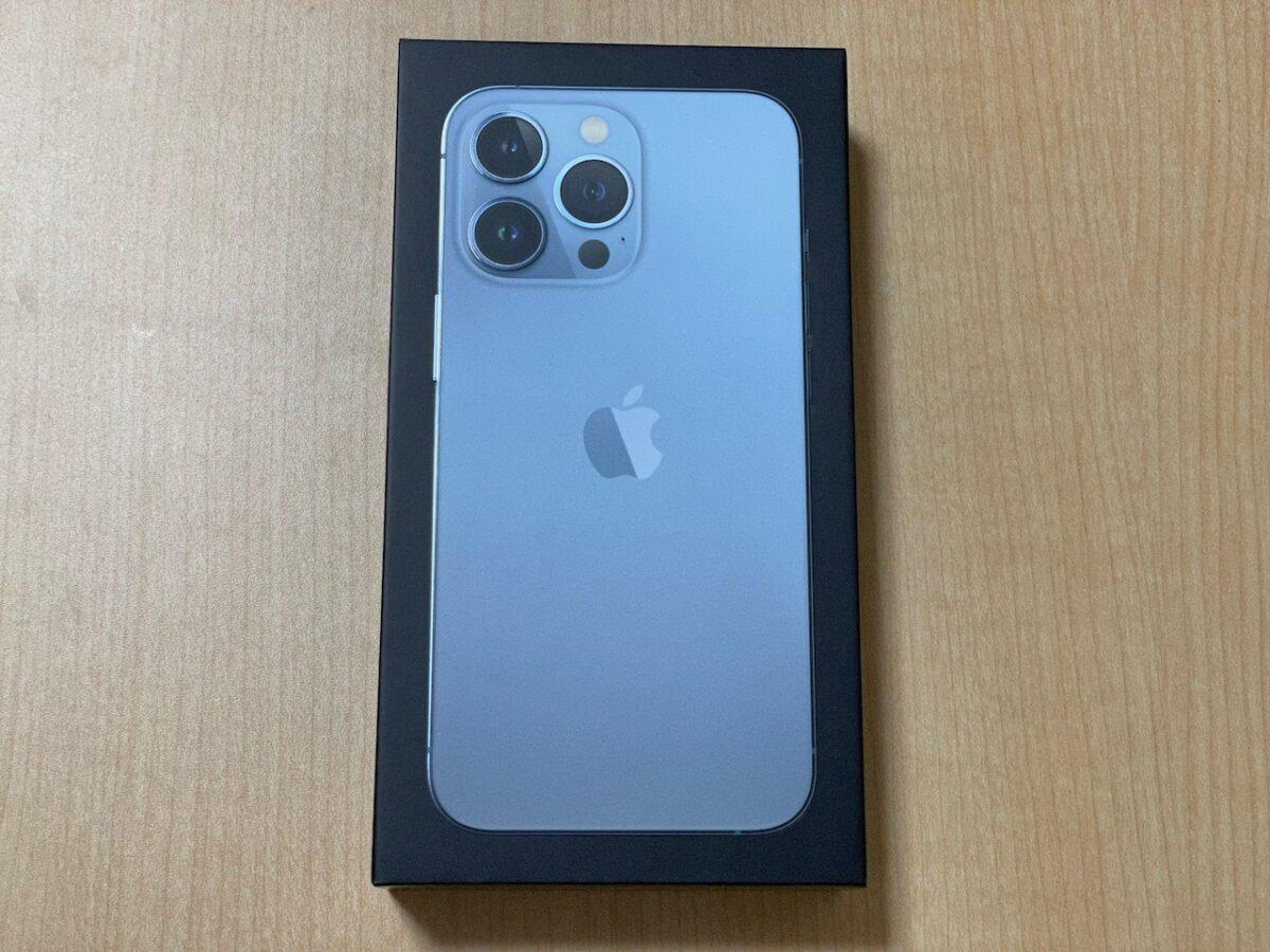 iPhone13 Pro。外箱